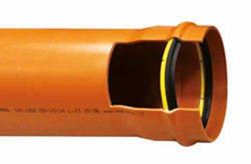 Tubi in PVC-U per fognature UNI 1401-1 con guarnizione inamovibile