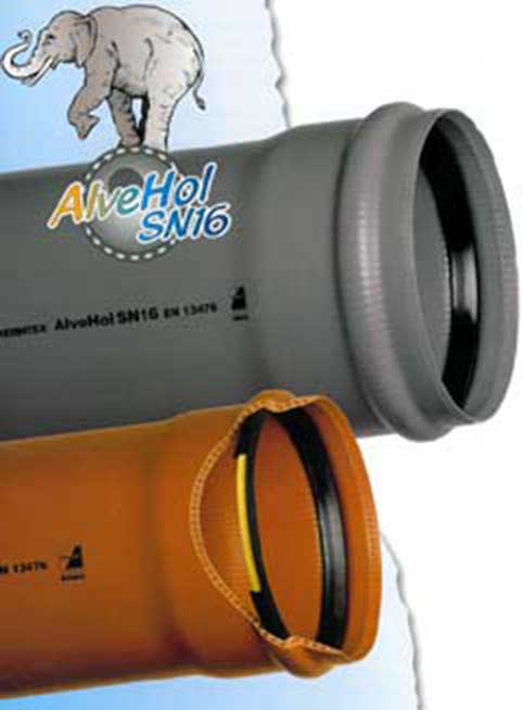 Tubi in PVC - U AlveHol a parete strutturata per fognature UNI EN 13476