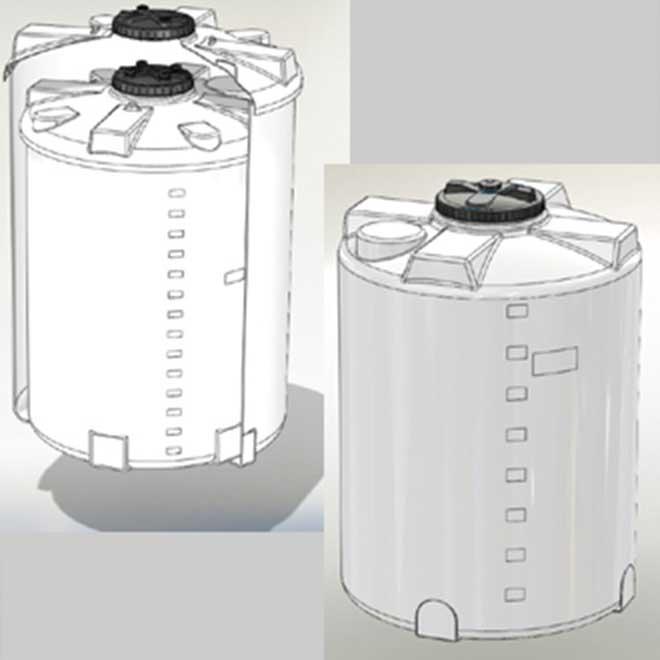 Serbatoi in polietilene per fluidi neutri e industriali
