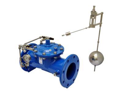 Valvola idraulica di controllo livello min-max a galleggiante