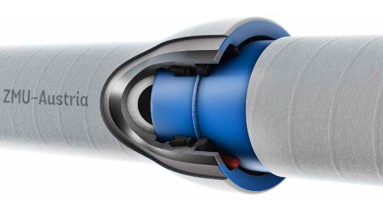 Tubi in ghisa sferoidale antisfilamento antisismico TRM VRS-T e rivestimento corazzato ZMU